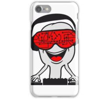 music party dj disco party headphones mischpult glasses technology sunglasses cool iPhone Case/Skin