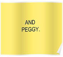 AND PEGGY. HAMILTON MUSICAL DESIGN PEGGY SCHUYLER Poster
