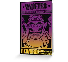 Wanted 02 Greeting Card