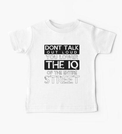Sherlock - Don't Talk Out Loud... Baby Tee