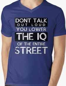 Sherlock - Don't Talk Out Loud... Mens V-Neck T-Shirt