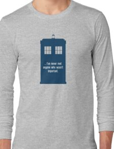 Doctor Who  - Tardis with Quote  Long Sleeve T-Shirt