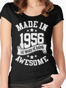 Made in 1956 , 60 Years of Being Awesome T Shirts & Hoodies , Mugs , Gifts & More ( 2016 Birthday ) Women's Fitted Scoop T-Shirt