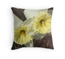 Spring Doubles - Flowers Daffodil's  Throw Pillow