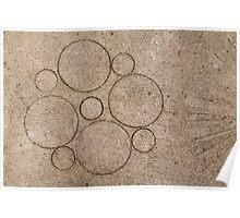 concrete pattern circles lines Poster