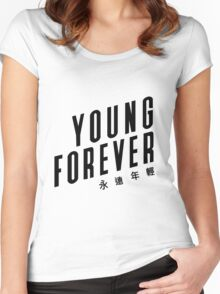 Young forever - BTS 190416 (WHITE) Women's Fitted Scoop T-Shirt