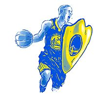 Steph Curry Warriors Drawing Photographic Print