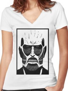 The Titan [Framed] Women's Fitted V-Neck T-Shirt