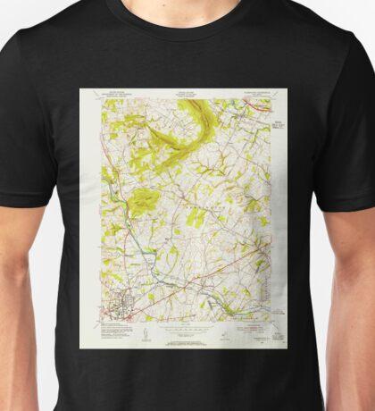 USGS TOPO Map New Jersey NJ Flemington 254384 1954 24000 Unisex T-Shirt