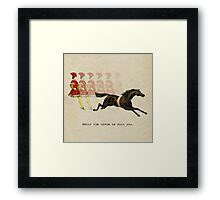 Neigh the Horse Be With You Framed Print