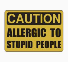 Allergic To Stupid People Baby Tee