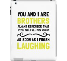 Brothers Laughing iPad Case/Skin