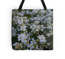 Carpet of White Flowers Tote Bag