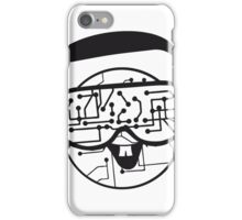music party dj disco party headphones face funny laugh comic glasses technology sunglasses cool sunglasses iPhone Case/Skin
