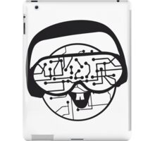 music party dj disco party headphones face funny laugh comic glasses technology sunglasses cool sunglasses iPad Case/Skin