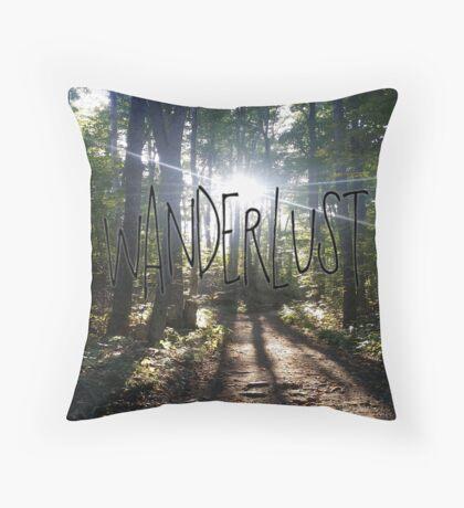 Wanderlust Nature Hike Throw Pillow