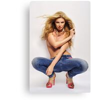 sexy nude erotic glamour girl model 30 Canvas Print