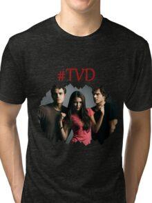 #TVD - The Vampire Diaries - Damon, Elena, Stefan Tri-blend T-Shirt