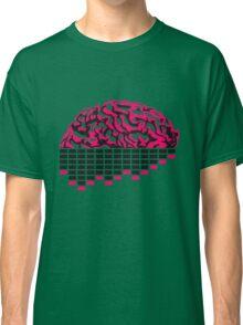 music party dj club cyborg brain machine computer science fiction microchip intelligence brain design cool robot black Classic T-Shirt