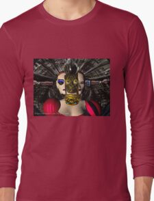 ANDROID XENIA SPACESHIP PILOT  / Sci -Fi Long Sleeve T-Shirt