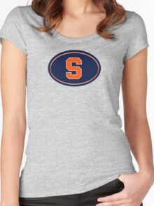 Syracuse S Women's Fitted Scoop T-Shirt