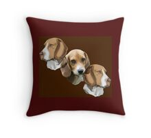 Beagle Portraits Throw Pillow