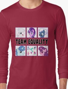 TEAM EQUALITY - WHITE VERSION Long Sleeve T-Shirt