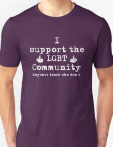 I support the LGBT community T - Pearl Jam T-Shirt
