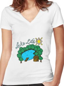 Lake Life Women's Fitted V-Neck T-Shirt
