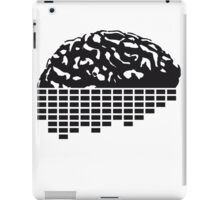 music party dj club cyborg brain machine computer science fiction microchip intelligence brain design cool robot black iPad Case/Skin