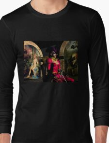 ANDROID XENIA IN HYPERION'S ORBITER  Sci-Fi Long Sleeve T-Shirt