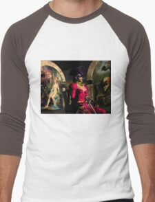 ANDROID XENIA IN HYPERION'S ORBITER  Sci-Fi Men's Baseball ¾ T-Shirt