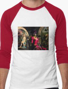 ANDROID XENIA IN HYPERION'S ORBITER  Sci-Fi Men's Baseball ¾ T-Shirt