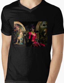 ANDROID XENIA IN HYPERION'S ORBITER  Sci-Fi Mens V-Neck T-Shirt