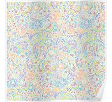 Colorful Abstract Flowers Poster