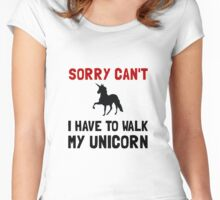 Walk Unicorn Women's Fitted Scoop T-Shirt