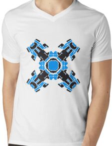 microchip motherboard technology line connection datentechnik electronics cool design robot cyborg energy pattern Mens V-Neck T-Shirt