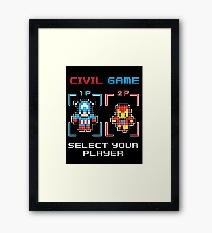 civil game Framed Print