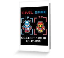 civil game Greeting Card