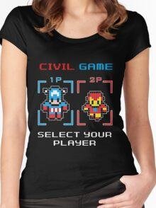 civil game Women's Fitted Scoop T-Shirt