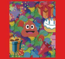 happy birthday poop emoji One Piece - Short Sleeve