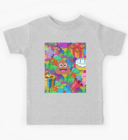 happy birthday poop emoji Kids Tee