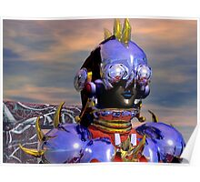 TITAN CYBORG PORTRAIT Blue Science Fiction ,Sci Fi Poster