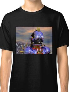 TITAN CYBORG PORTRAIT Blue Science Fiction ,Sci Fi Classic T-Shirt