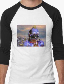 TITAN CYBORG PORTRAIT Blue Science Fiction ,Sci Fi Men's Baseball ¾ T-Shirt