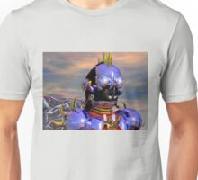 TITAN CYBORG PORTRAIT Blue Science Fiction ,Sci Fi Unisex T-Shirt
