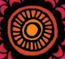 Sunset Mandala Design Sticker