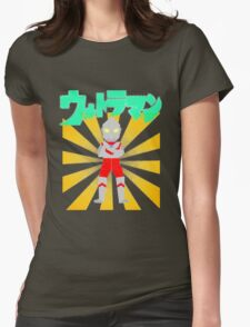 Origami Ultraman Womens Fitted T-Shirt