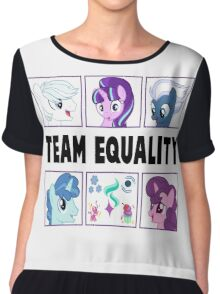TEAM EQUALITY - CLEAR BOXES VERSION Chiffon Top