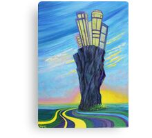 Yellow Road to Lone Rock Canvas Print